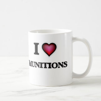 Caneca De Café Eu amo munições