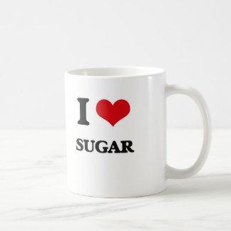 Caneca De Café Eu amo o açúcar