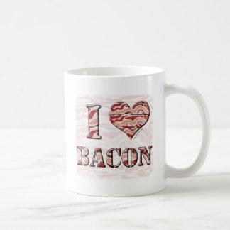 Caneca De Café Eu amo o bacon!