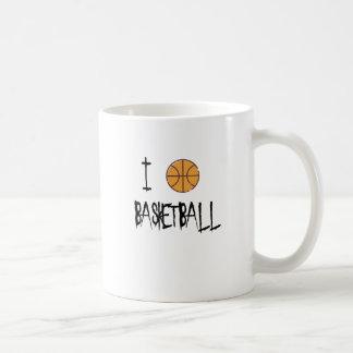 Caneca De Café Eu amo o basquetebol