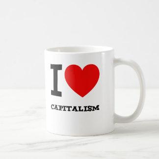 Caneca De Café Eu amo o capitalismo