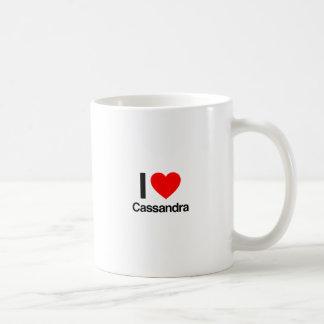 Caneca De Café eu amo o cassandra