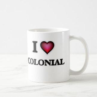 Caneca De Café Eu amo o Colonial