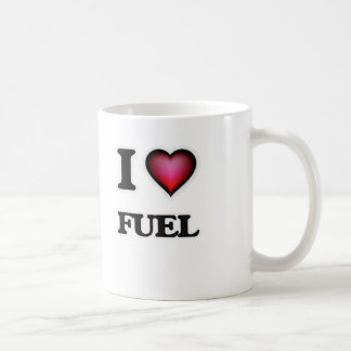 Caneca De Café Eu amo o combustível