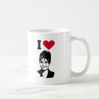Caneca De Café Eu amo o coração Sarah Palin de Sarah Palin/I