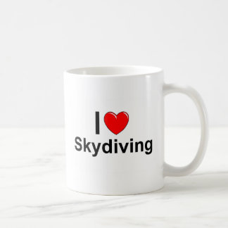 Caneca De Café Eu amo o coração Skydiving
