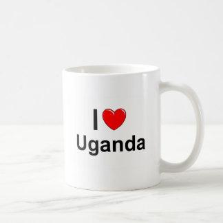 Caneca De Café Eu amo o coração Uganda