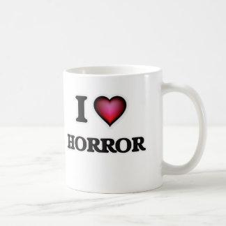 Caneca De Café Eu amo o horror