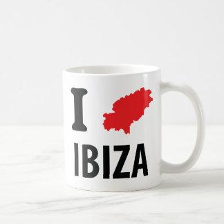 Caneca De Café Eu amo o ícone do contorno de Ibiza
