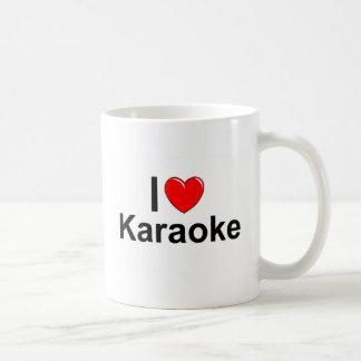 Caneca De Café Eu amo o karaoke do coração