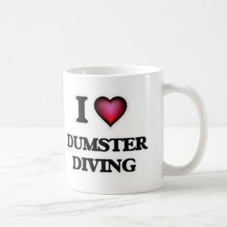 Caneca De Café Eu amo o mergulho de Dumster