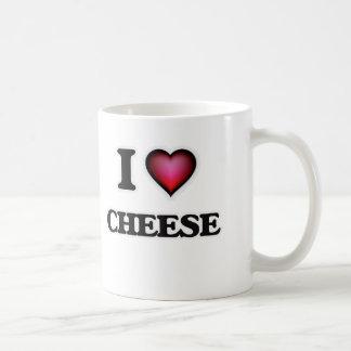 Caneca De Café Eu amo o queijo