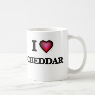 Caneca De Café Eu amo o queijo Cheddar