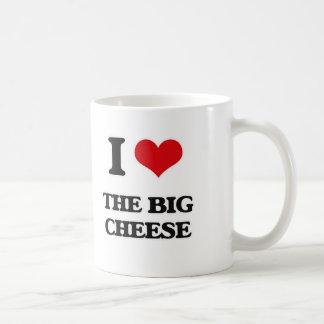 Caneca De Café Eu amo o queijo grande