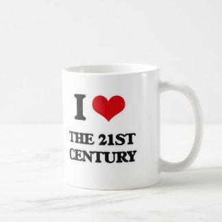 Caneca De Café Eu amo o século XXI