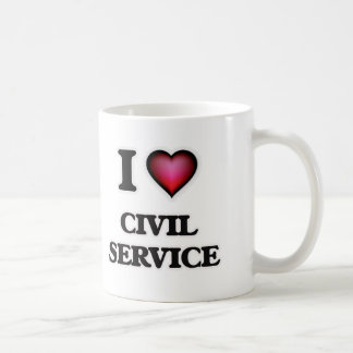 Caneca De Café Eu amo o serviço civil