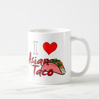 Caneca De Café Eu amo o Taco asiático