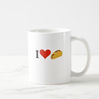 Caneca De Café Eu amo o Tacos para amantes do Taco