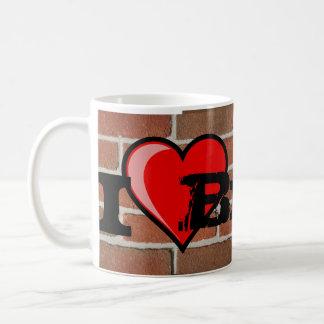Caneca De Café Eu amo o tijolo