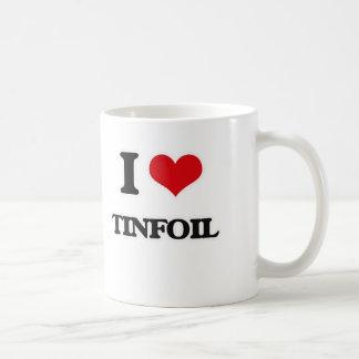Caneca De Café Eu amo o Tinfoil