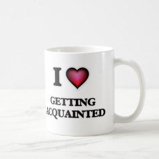 Caneca De Café Eu amo obter ao corrente