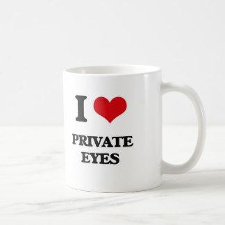 Caneca De Café Eu amo os detectives privados