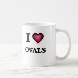 Caneca De Café Eu amo Ovals