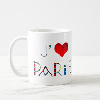 Caneca De Café Eu amo Paris no vitral de Notre Dame