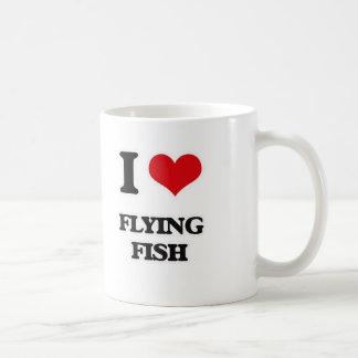 Caneca De Café Eu amo peixes de vôo