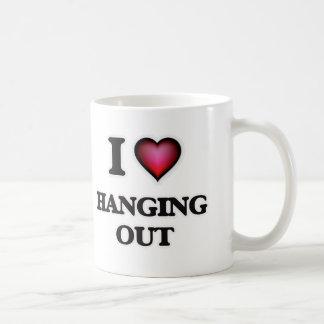 Caneca De Café Eu amo pendurar para fora