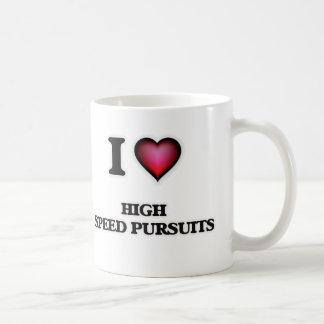 Caneca De Café Eu amo perseguições de alta velocidade