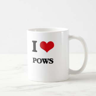 Caneca De Café Eu amo Pows
