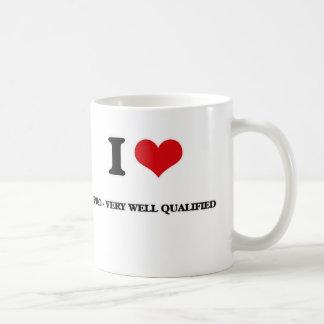 Caneca De Café Eu amo pro - muito bem qualificado