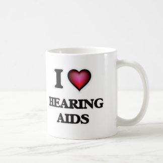 Caneca De Café Eu amo próteses auditivas