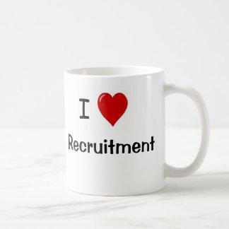Caneca De Café Eu amo razões rudes e insolentes do recrutamento -