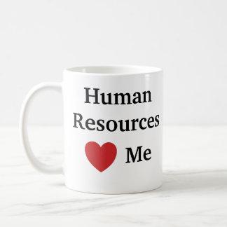 Caneca De Café Eu amo recursos humanos amo-me hora engraçada