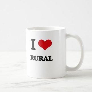 Caneca De Café Eu amo rural