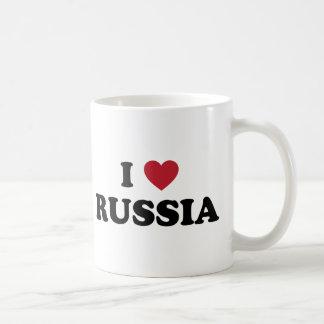 Caneca De Café Eu amo Rússia