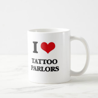 Caneca De Café Eu amo salas de estar do tatuagem