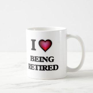 Caneca De Café Eu amo ser aposentada