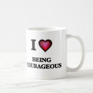 Caneca De Café Eu amo ser corajoso