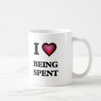 Caneca De Café Eu amo ser gastado