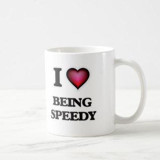 Caneca De Café Eu amo ser rápido