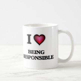 Caneca De Café Eu amo ser responsável