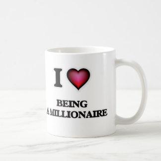 Caneca De Café Eu amo ser um milionário