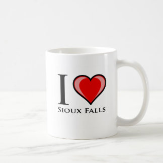Caneca De Café Eu amo Sioux Falls