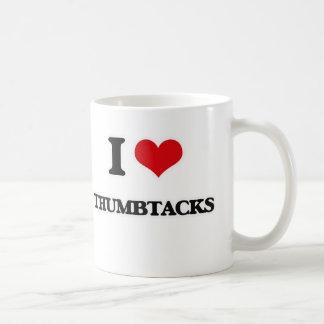 Caneca De Café Eu amo Thumbtacks
