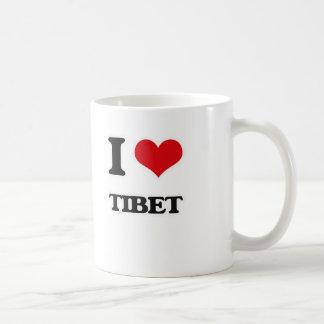 Caneca De Café Eu amo Tibet