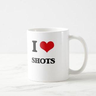 Caneca De Café Eu amo tiros