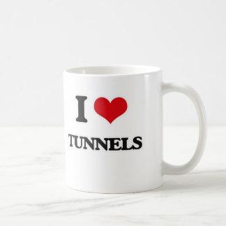 Caneca De Café Eu amo túneis